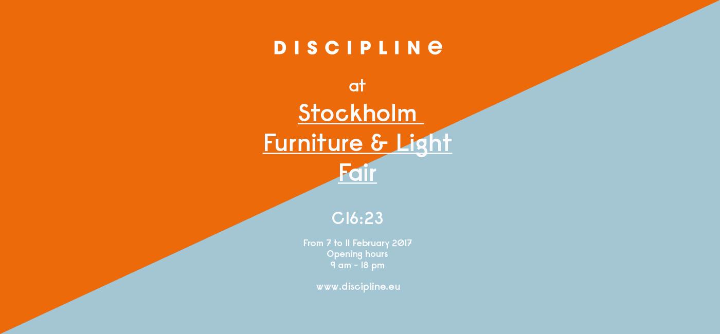 DISCIPLINE @ Stockholm Furniture & Light Fair 2017